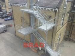 Fire Escape design and installed in Bradford, UK