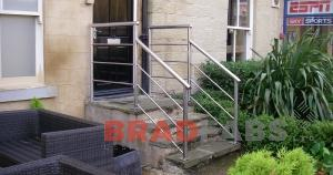 Steel balustrading in Bradford fabricated by Bradfabs, Steel balustrade fabricated and installed by Bradfabs