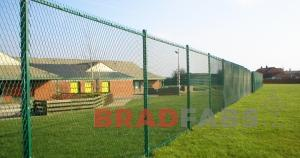 Bradfabs supplied and installed this metal mesh fencing