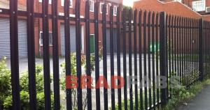 Galvanised, powder coated metal fencing by Bradfabs