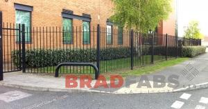 Galvanised, powder coated mesh metal fencing by Bradfabs