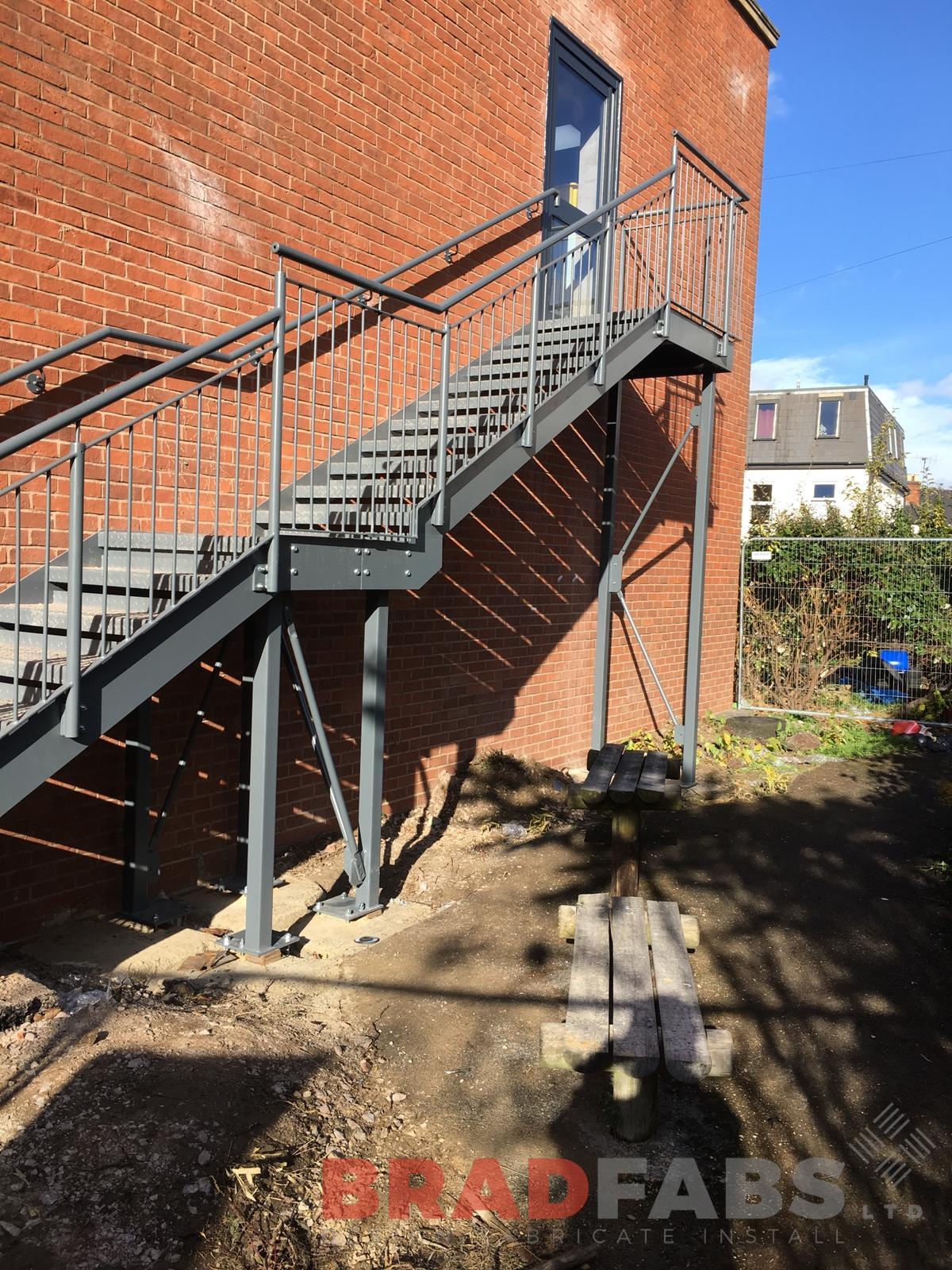 School fire escape installed by Bradfabs