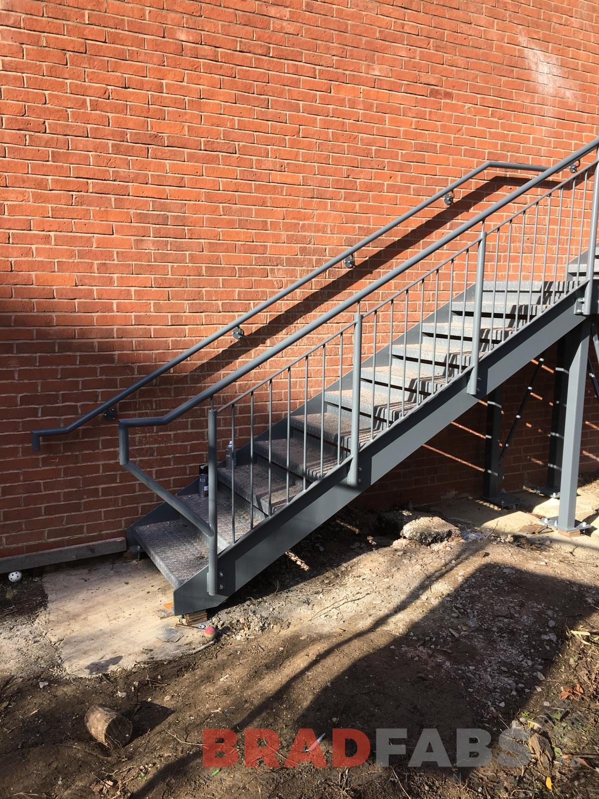 Vertical bar balustrade Fire Escape Staircase