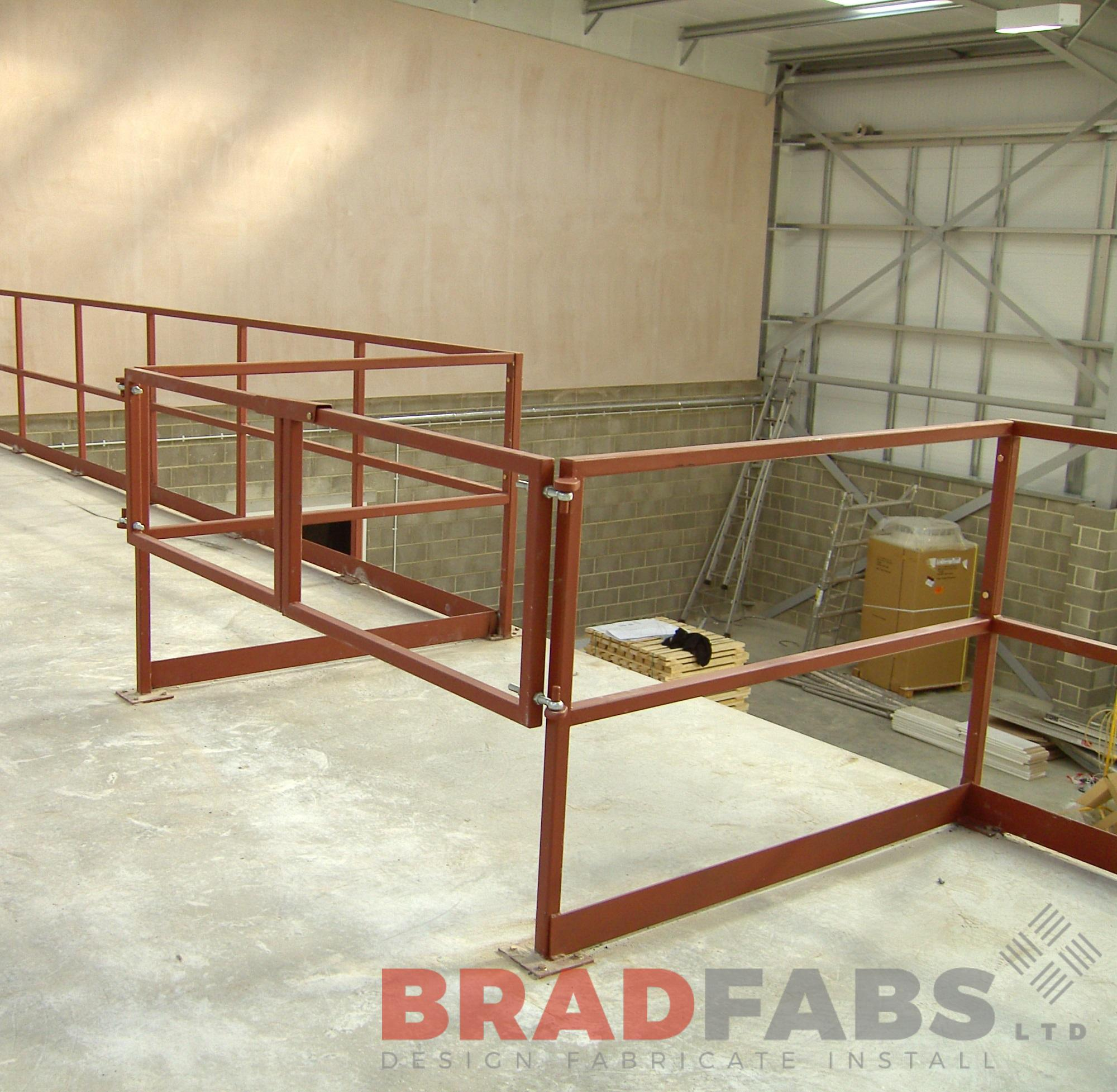 mild steel internal gates powder coated. Designed, supplied and installed by bradfabs