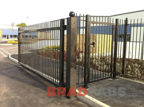 mild steel, galvanised and powder coated black bespoke gates by Bradfabs