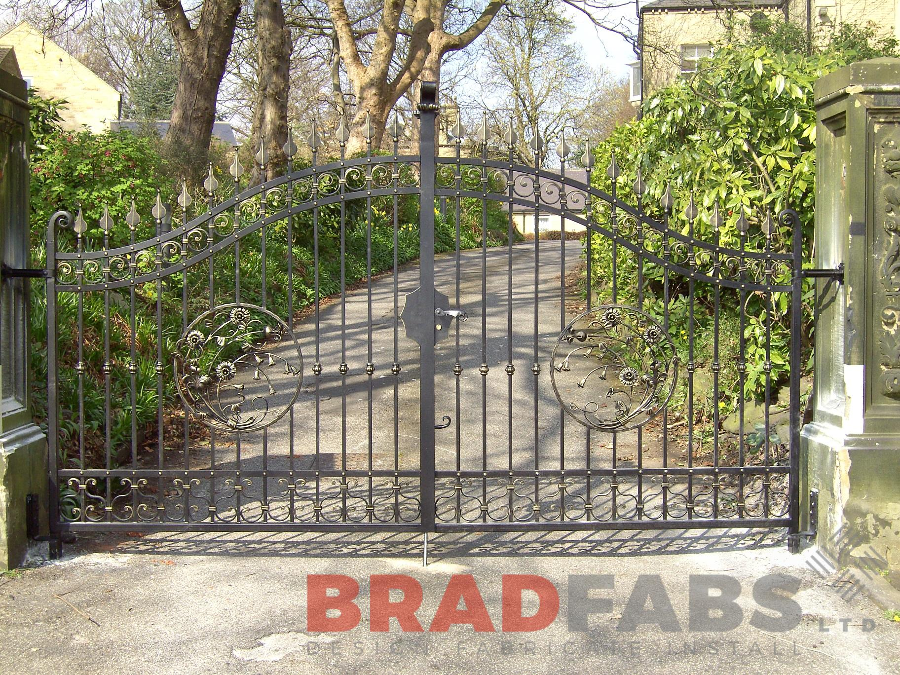 bespoke decorative gates for a residential driveway by bradfabs