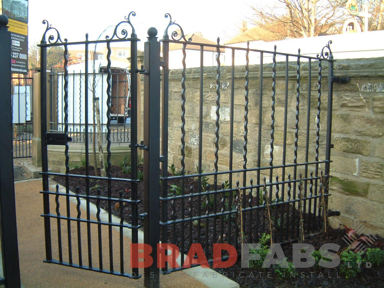 mild steel, galvanised and powder coated decorative gates by bradfabs