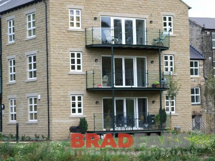 BRADFABS made these steel and glass balconies. UK