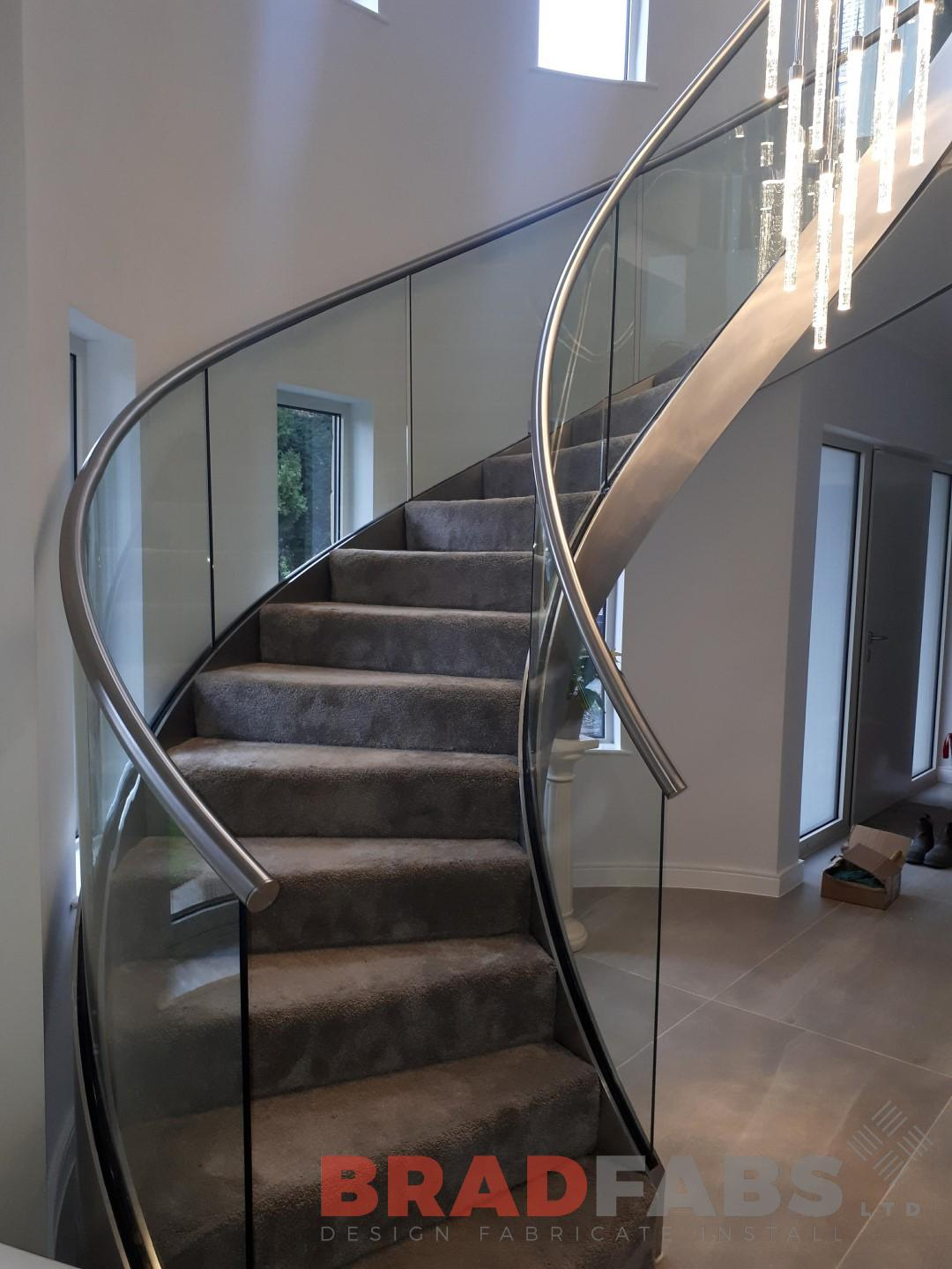 The wow factor in helix staircases manufacutred by Bradfabs