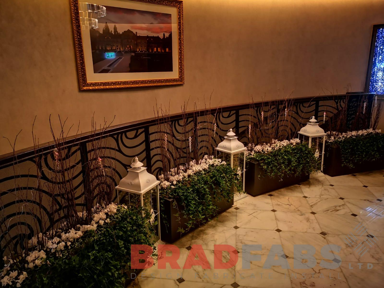 Decorative ornate metal balustrade