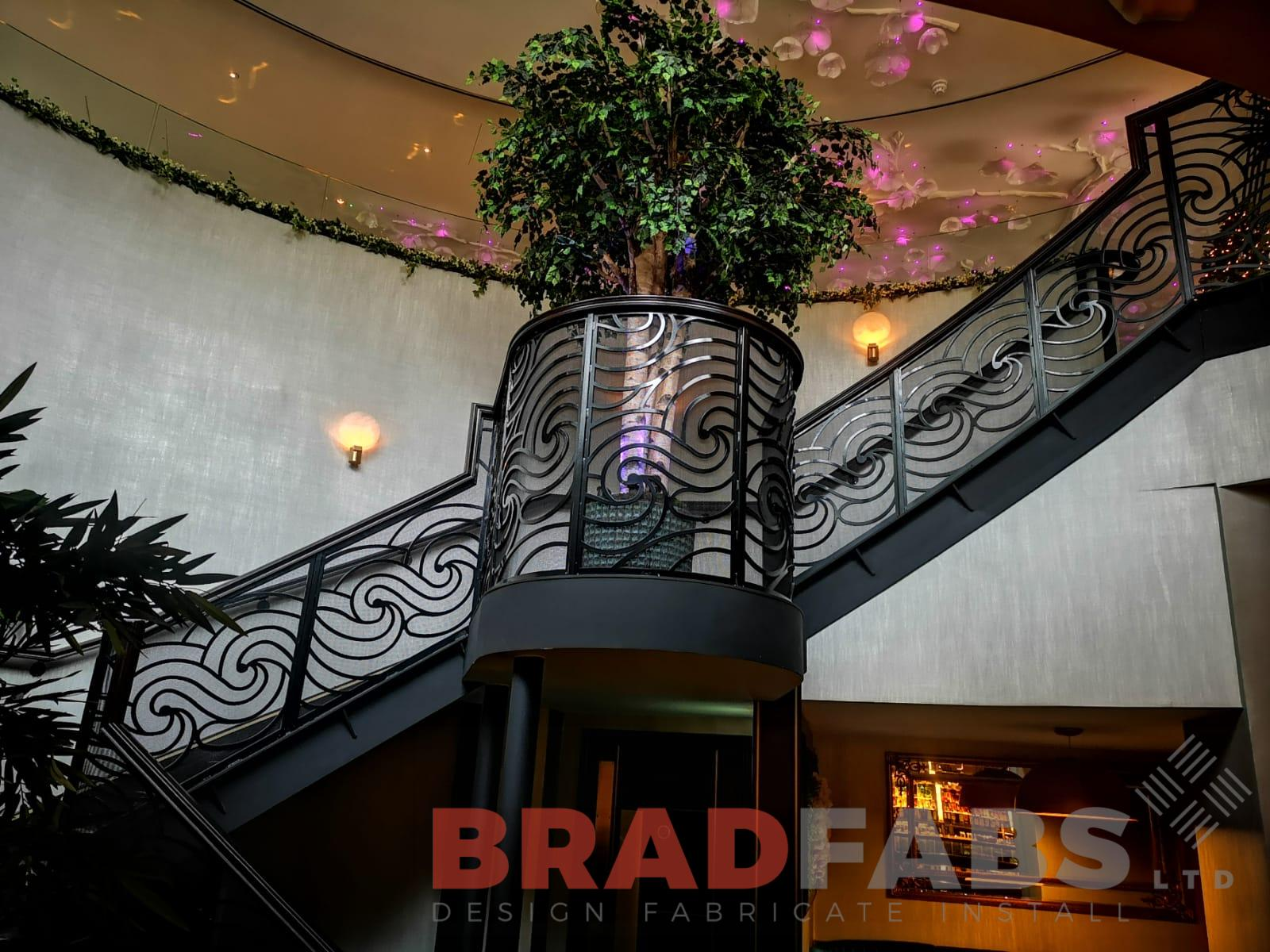Modern and stylish curved staircase