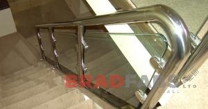 Balustrade fabricated by Bradfabs, Balustrading installed by Bradfabs, Balustraing installed at domestic property
