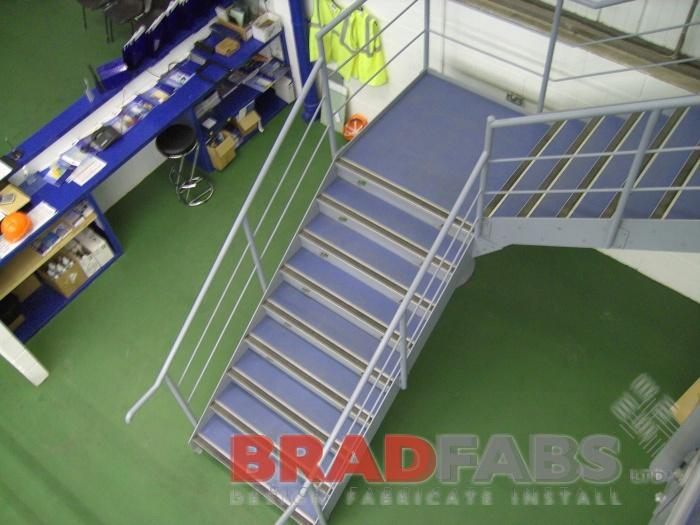 mild steel powder coated top and mid rail balustrade commercial project