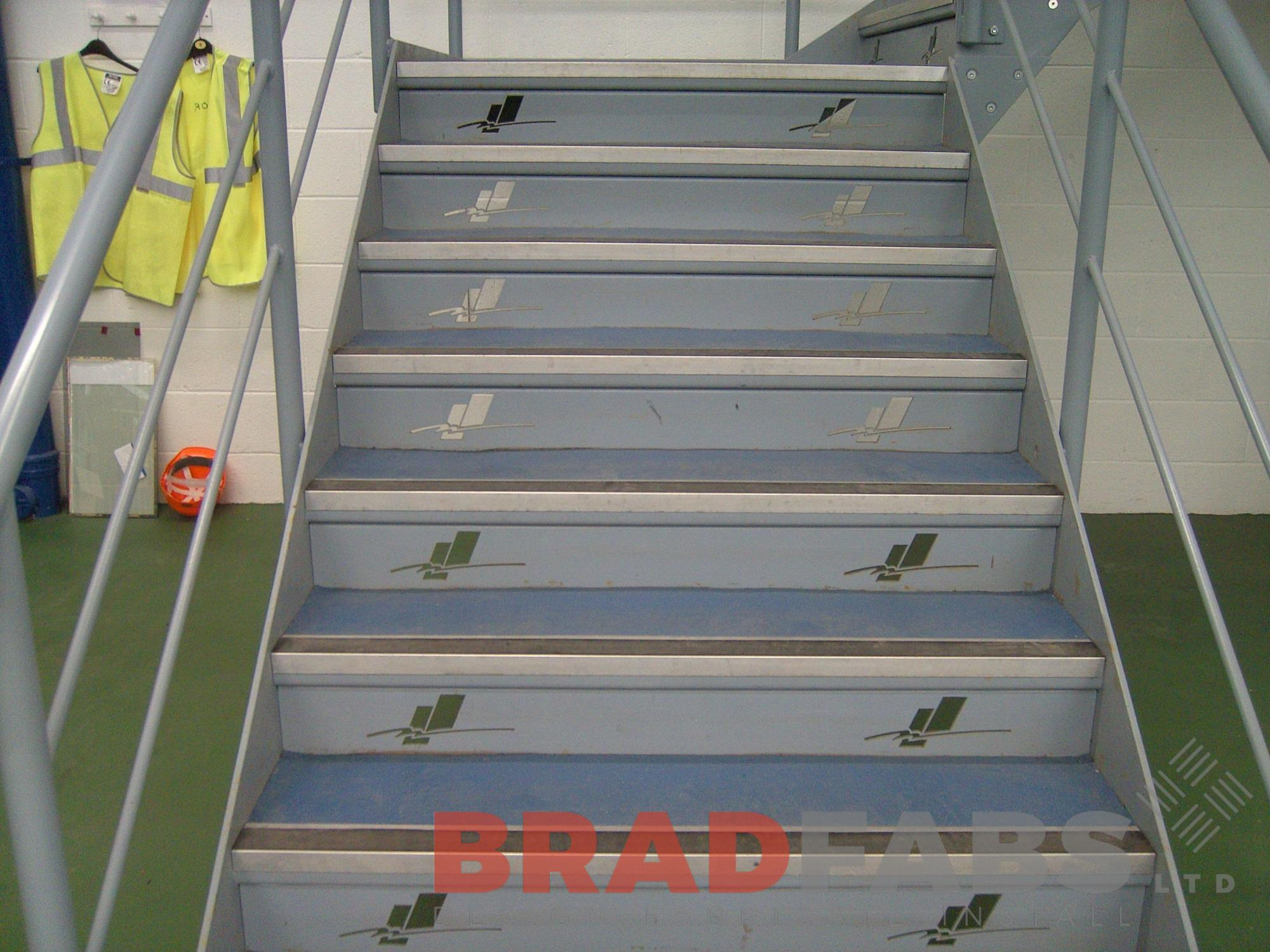 decorative treads mild steel powder coated commercial project