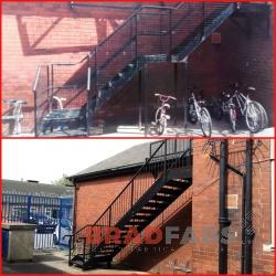 Fire Escape designed and installed in Leeds