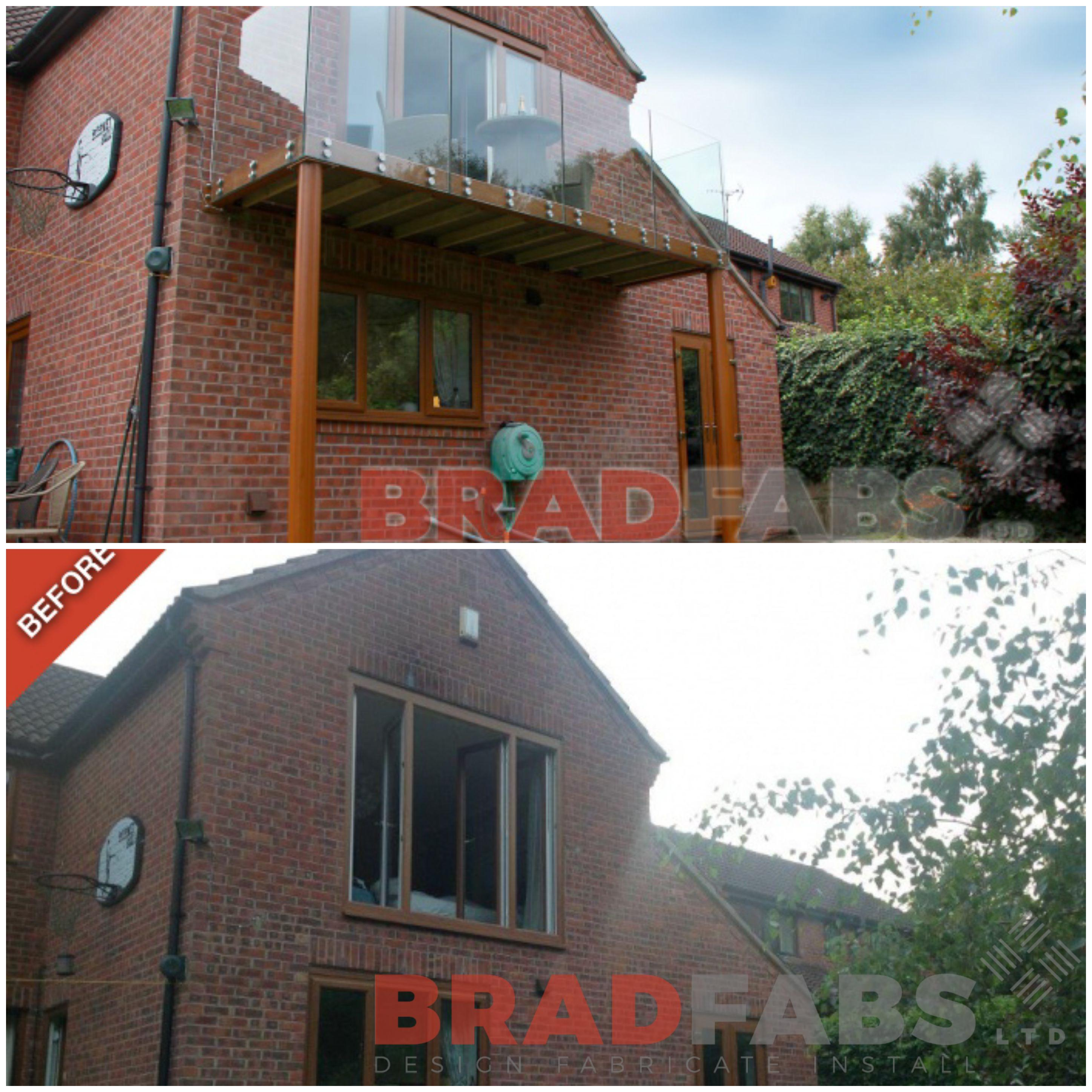 Beautifully modern transformation balcony with infinity glass balustrade and front fix