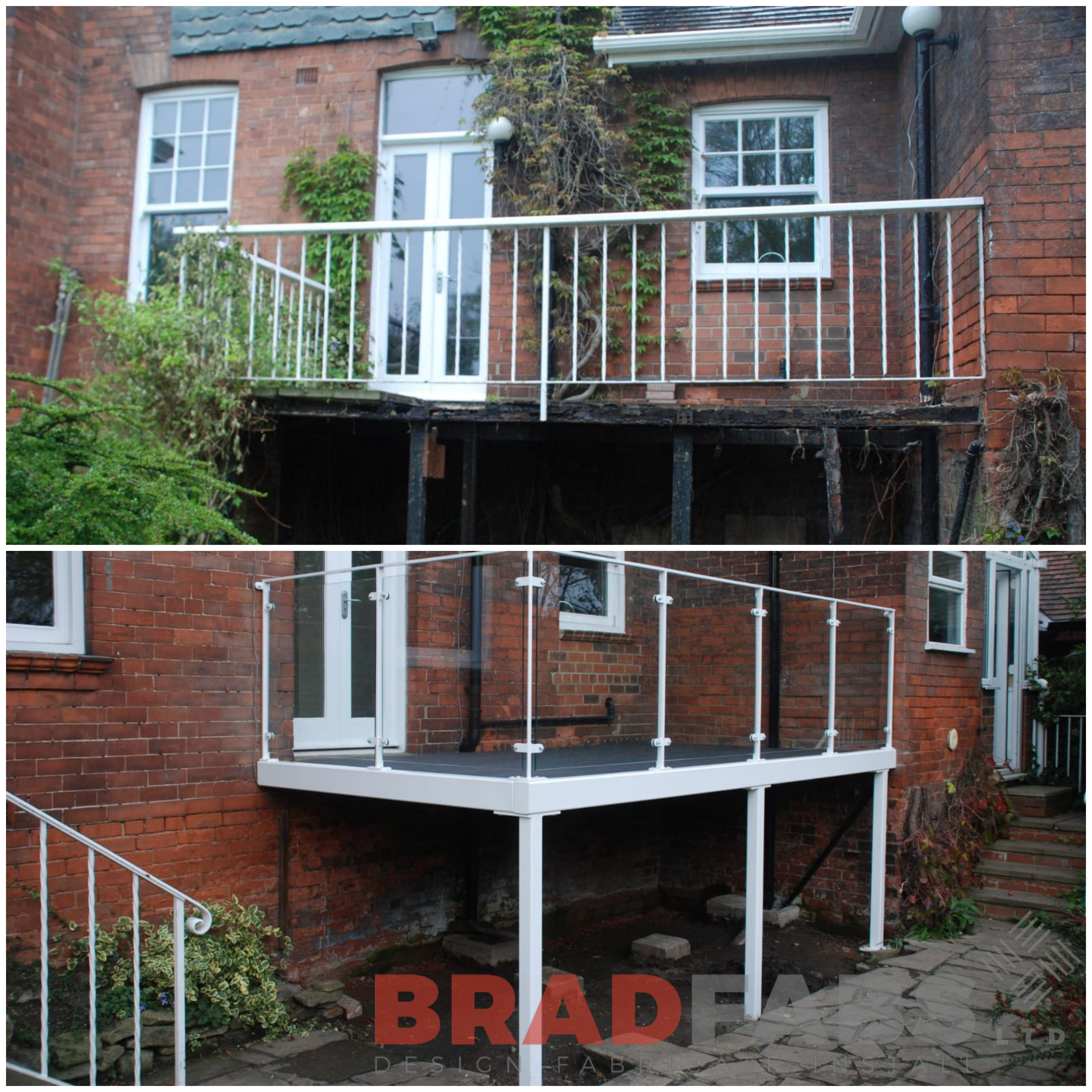 The wow factor in your garden with this steel balcony