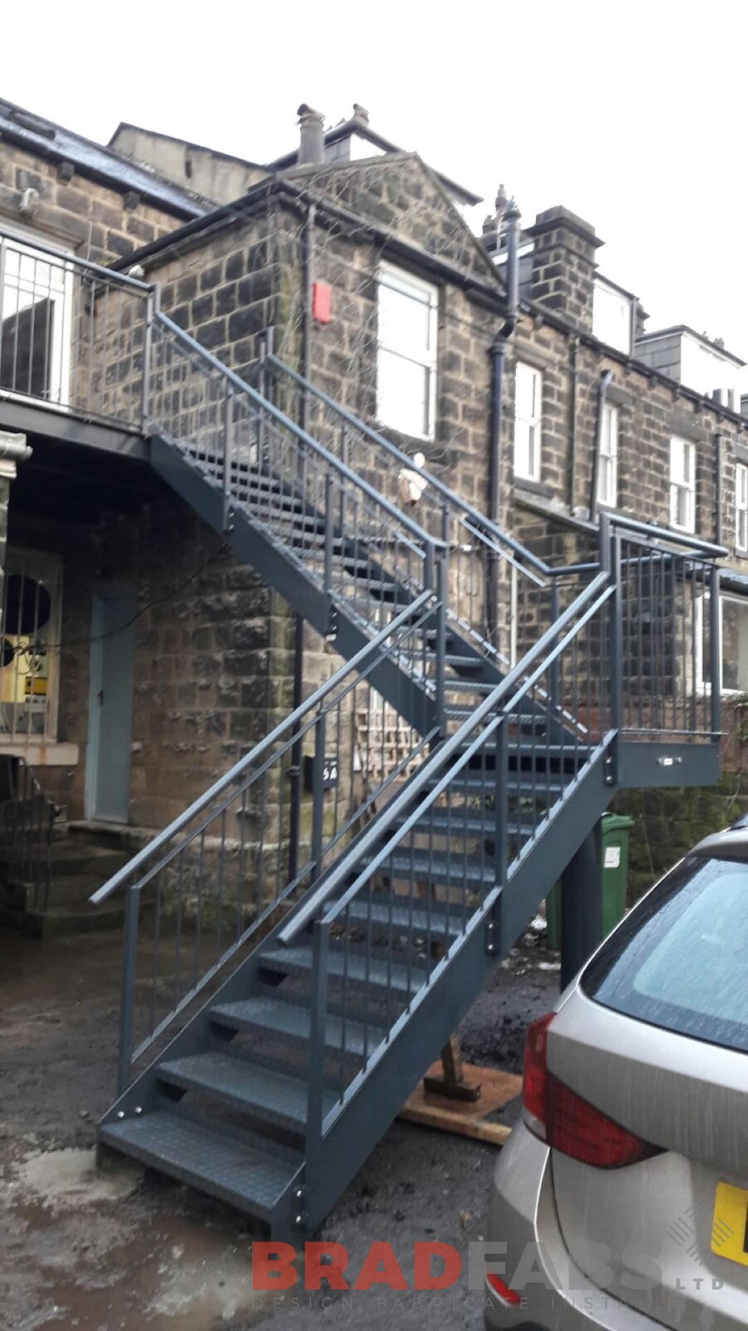 Dog Leg Fire Escape with Landings