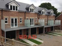 Beautiful addition to these homes, professionally manufactured in mild steel and galvanised and powder coated by the Bradfabs team.