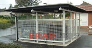 Bradfabs fabricated steel bin stores in bradford, Steel bin stores fabricated in west yorkshire, Weather protection bin stores installed in leeds by bradfabs