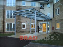 suspended ambulance canopy fabricated in west yorkshire