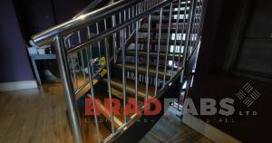 Stainless Steel Staircase Balustrading in bradford, Steel balustrading fitted in a public house in Leeds