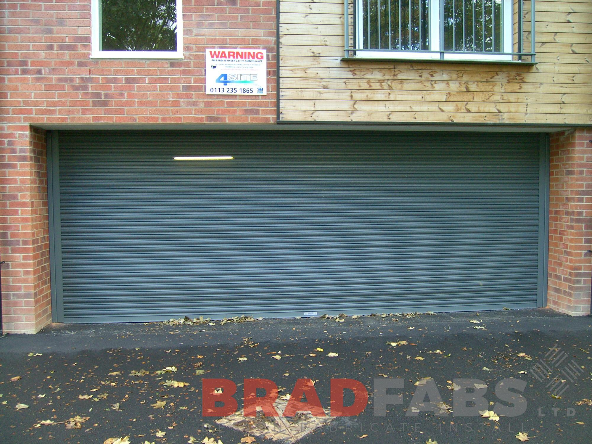 roller shutter doors fabricated in bradford, steel roller shutter doors fabricated in leeds, fob controlled roller shutter doors fabricated by bradfabs, security roller shutter doors