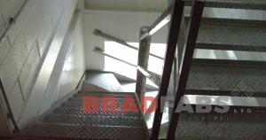 Metal staircase and walkway made by Bradfabs