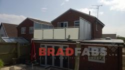 Private Balcony made with Privacy Glass installed in the UK by BRADFABS