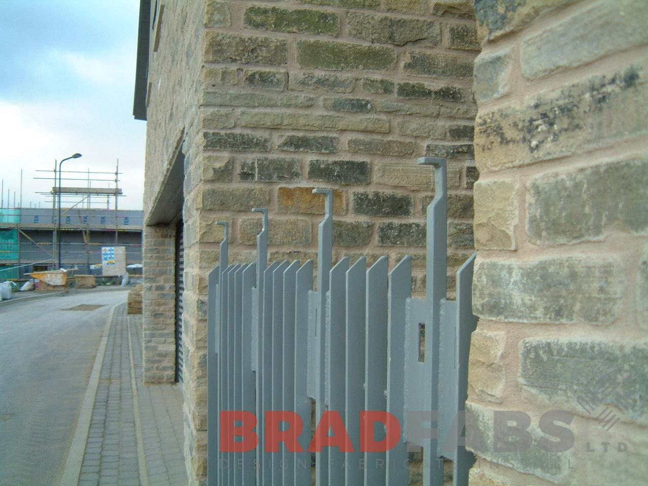 Security gate installed by UK Manufacturers Bradfabs