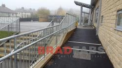 Galvanised railings for a school designed by Bradfabs