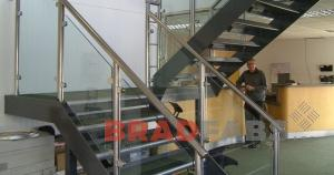 Stainless Steel and Glass Staircase Installed In Offices In Leeds