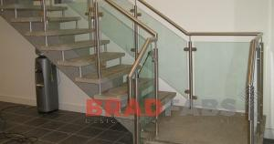 Staircase Balustrade in Stainless Steel and Glass