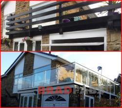 Glass and steel balustrading fabricated in bradford, Steel and glass balustrade