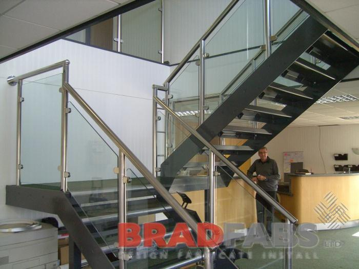 Balustrading fabricated by Bradfabs, Commercial balustrading installed in harrogate