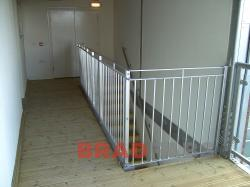 Steel balustrading installed in leeds, Balustrade fabricated and installed by Bradfabs