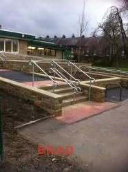Staircase Railings with Hooped Ends- Ashlands Primary School Ilkley