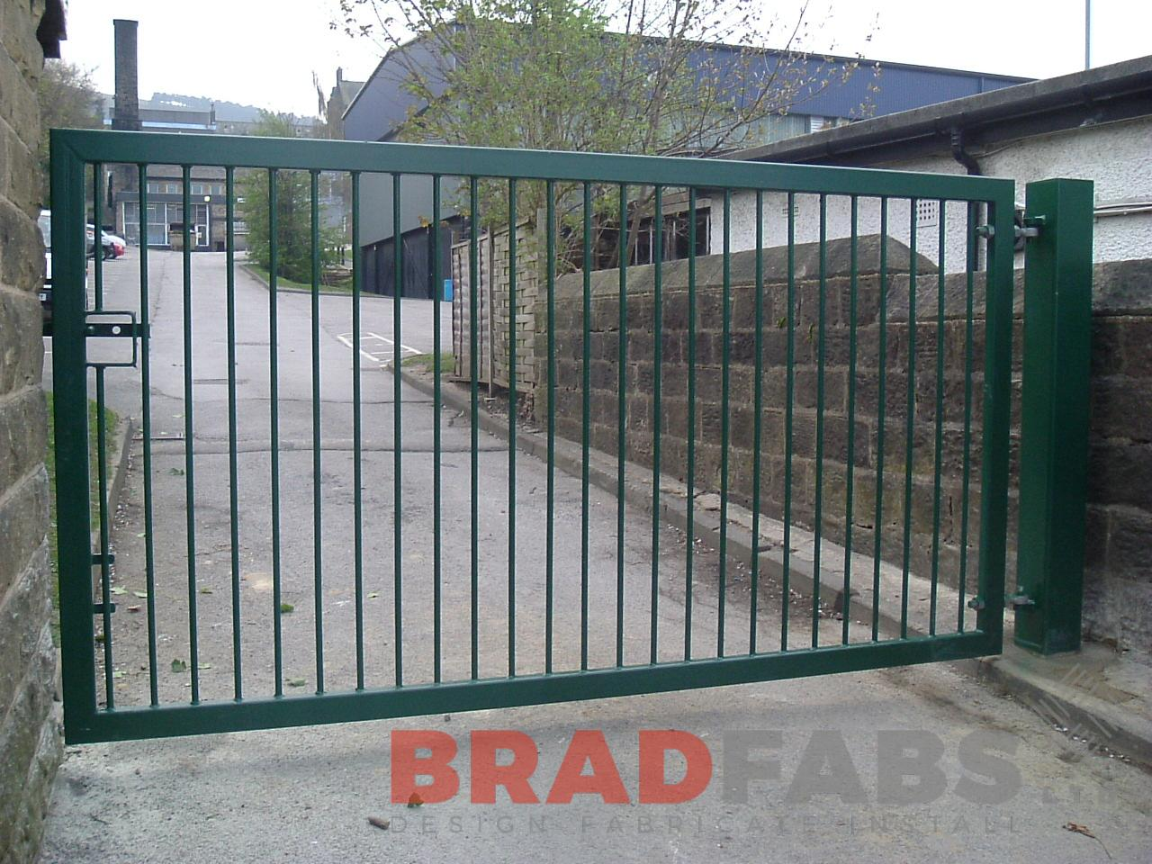 Gates supplied and installed by Bradfabs for security