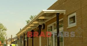 School Canopy - with safety perspex, London