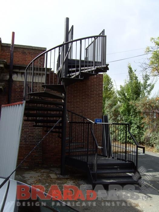 steel fire escape fabricated by Bradfabs in bradford