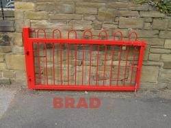 Galvanised, powder coated metal fencing