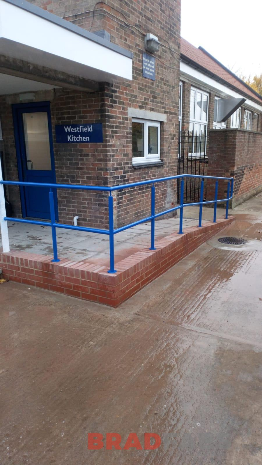 External steel railings for a school