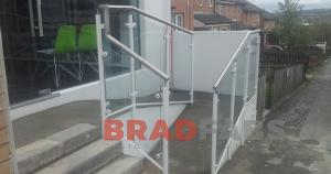 BRADFABS made this white balustrade for a shop in Bradford, West Yorkshire