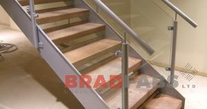 Steel Timber and Glass Staircase