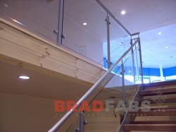 Balustrading Fabricated by Bradfabs, Balustrade installed by Bradfabs, Stainless steel domestic balustrading