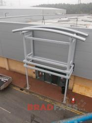 Large Commercial canopy made using powder coated Mild Steel in Newcastle, UK.