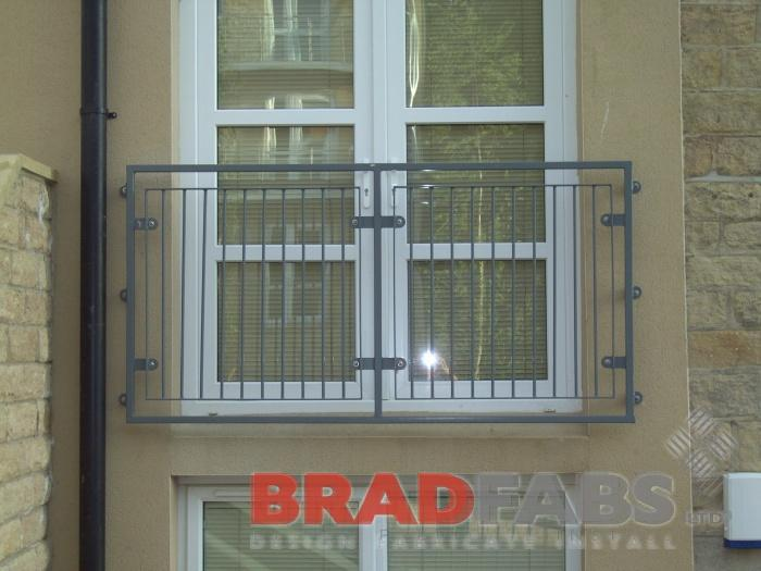 Juliet balcony in west yorkshire, balconette fabricated by bradfabs