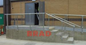 Steel externall balustrading, Steel balustrading fabricated in Bradford by BRADFABS