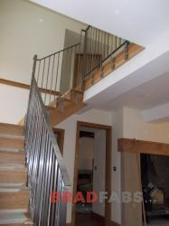 High Specification solid stainless steel balustrade, supplied and fitted by BRADFABS