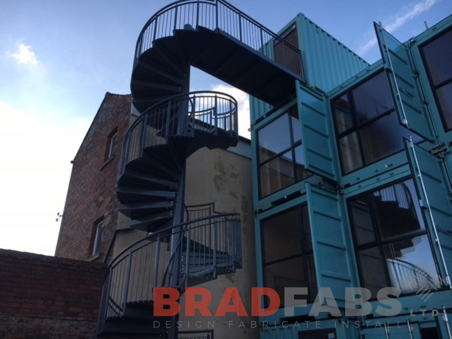 Large Industrial Spiral Staircase